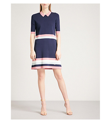 TED BAKER Origami knitted dress (Blue