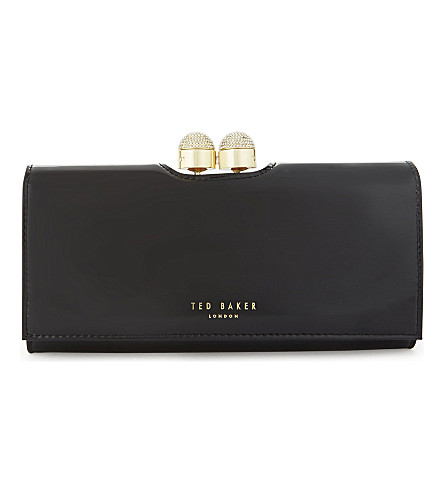 TED BAKER Bobble patent leather purse (Black