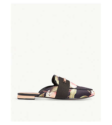 TED BAKER Klovar Peach Blossom loafers (Black