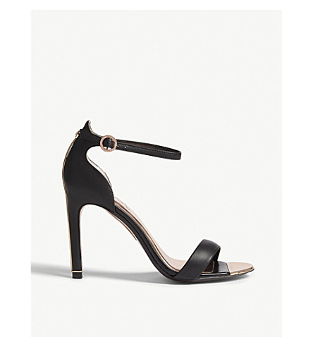 TED BAKER Sharlot leather sandals (Black