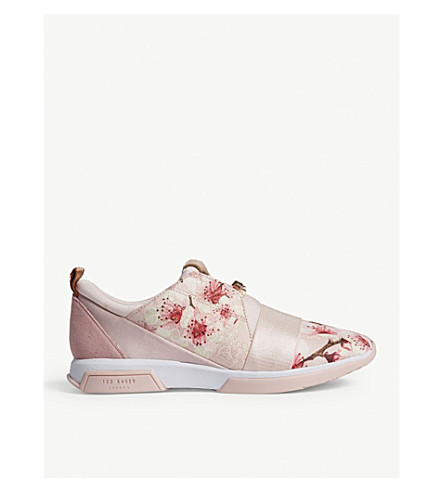 TED BAKER Capapj Blossom Jacquard trainers (Light+pink