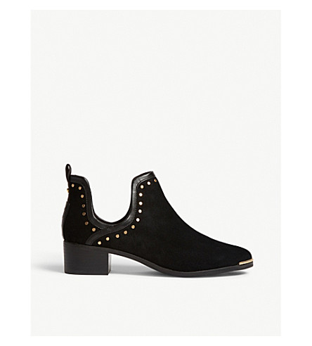 TED BAKER Twillos studded suede ankle boots (Black