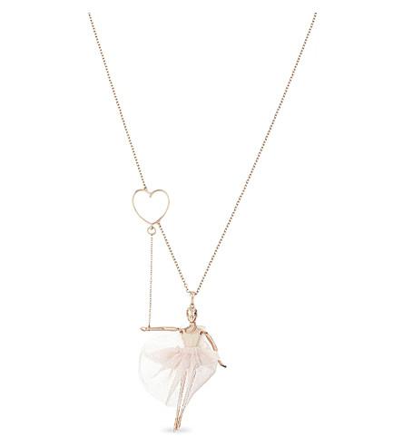 TED BAKER Bevlee ballerina pendant necklace (Nude+pink