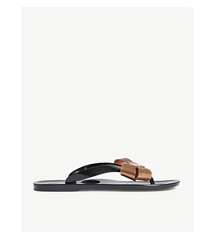 TED BAKER Suszie bow detail jelly sandals (Black
