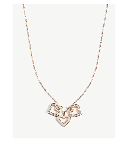 TED BAKER Ezzrela necklace (Rosegold+col