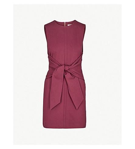 TED BAKER 颜色按数字 Aadila 领带前编织的礼服 (葡萄