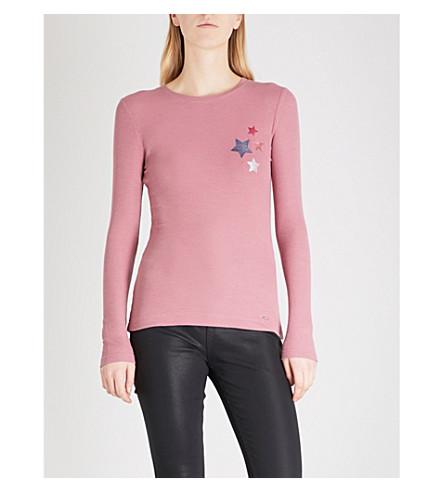 TED BAKER 明星印花球衣上衣 (裸体 + 粉红色