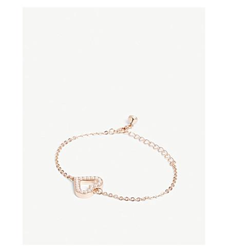 TED BAKER Edriana crystal heart bracelet (Rosegold+col