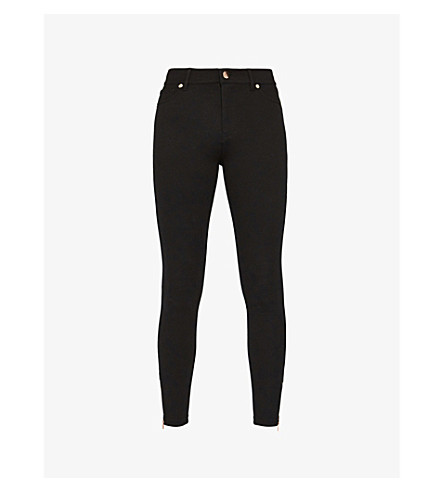 TED BAKER Skinny stretch-jersey trousers (Black