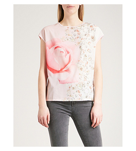 TED BAKER Blenheim Jewels woven top (Natural