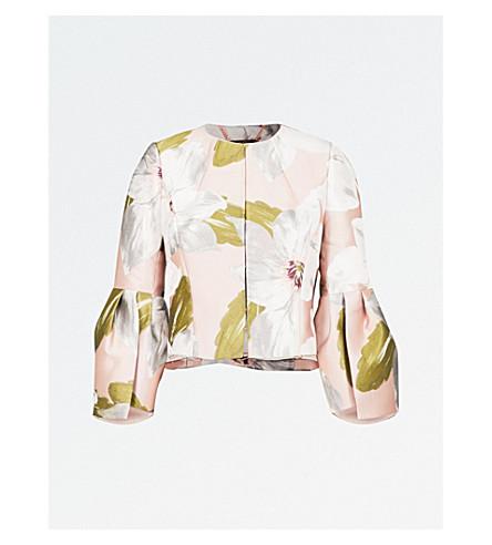 TED BAKER Franeo Chatsworth Bloom-print jacquard jacket (Dusky+pink