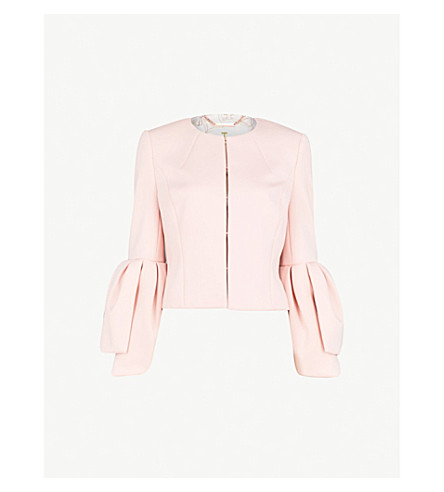 TED BAKER Bell-sleeve woven jacket (Light+pink