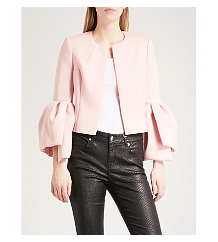 TED BAKER Bell-sleeve woven jacket (Light+pink