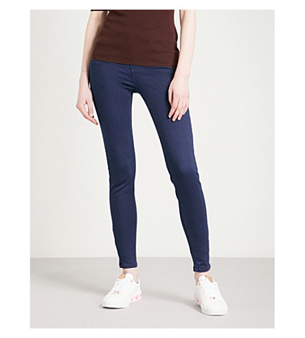 TED BAKER Skinny mid-rise jeans (Navy