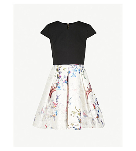 TED BAKER Briege jersey and jacquard dress (Black