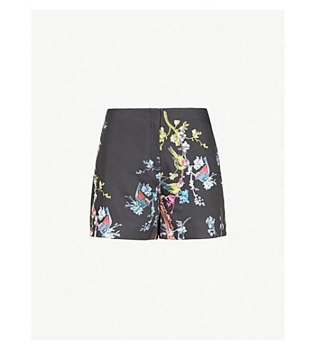 TED BAKER Opulent Fauna satin shorts (Black
