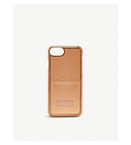 TED BAKER Korrii card holder iPhone 8 case (Rose+gold
