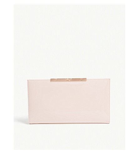 TED BAKER Kimberl patent leather travel wallet (Light+pink