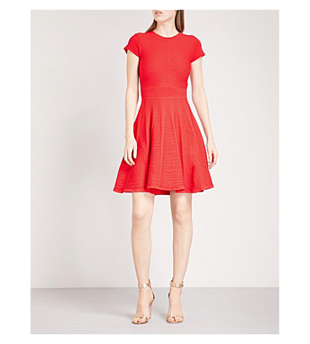 TED BAKER Lynndia knitted dress (Red