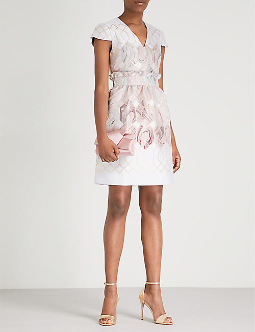 TED BAKER Sea of Clouds jacquard dress
