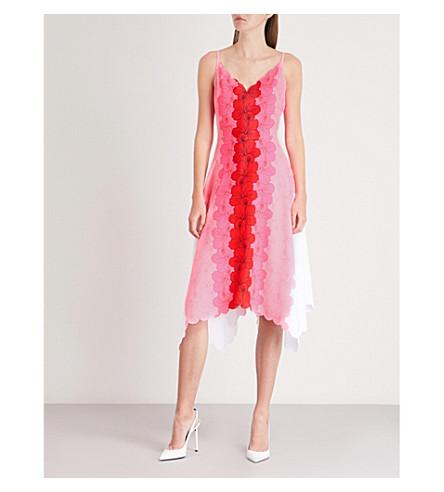 pierna BAKER con neón de floral a TED Happiness rosa Vestido Ritsa estampado media avxqHyy4Ew