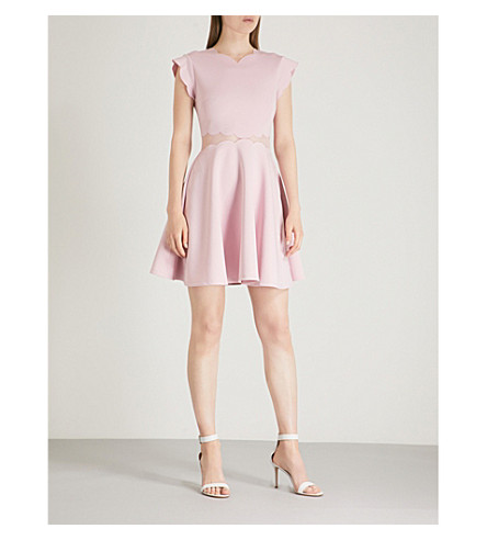 Omarria scalloped jersey dress