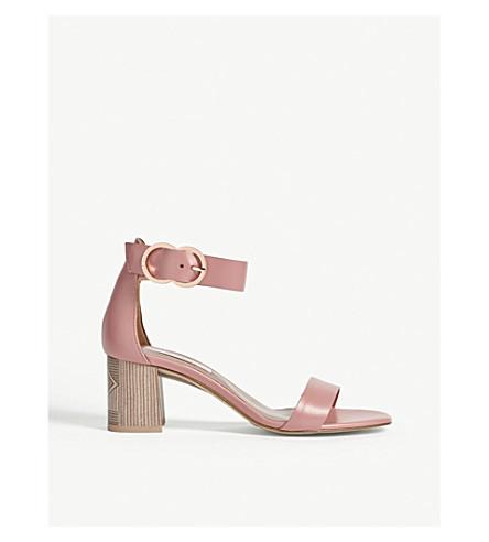 TED BAKER Qarvaa leather block-heeled sandals (Pink