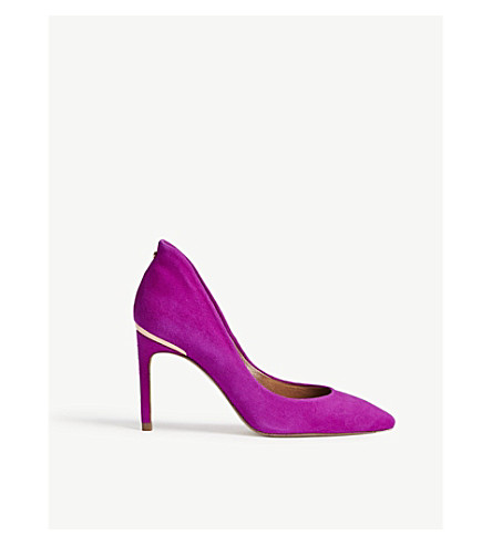 TED BAKER Savio II suede courts (Deep+pink