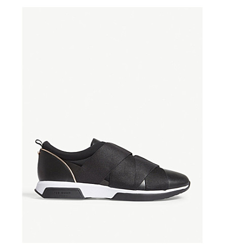 TED BAKER Queane leather trainers (Black