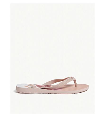 TED BAKER Beaulup bow-detail flip flops (Dusky+pink