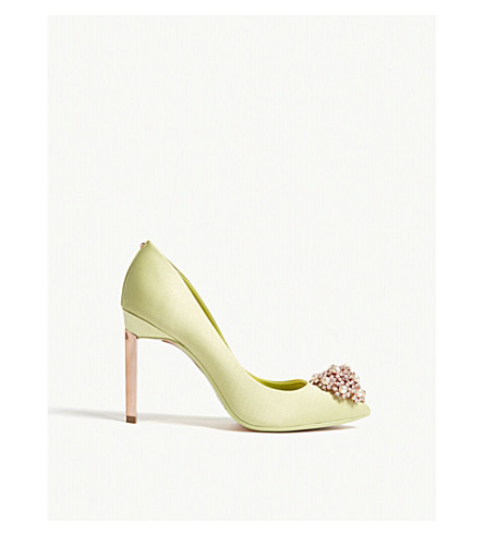 TED BAKER Peetch leather courts (Light+green