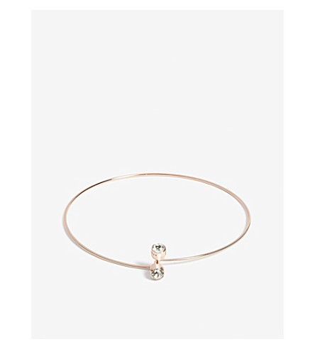 TED BAKER Celsey crystal choker (Clear