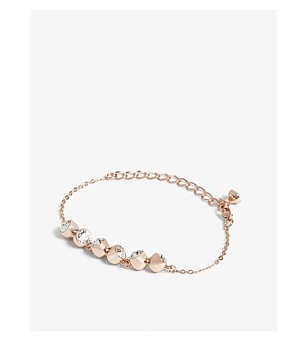 TED BAKER Caltha crystal tumble bracelet (Clear