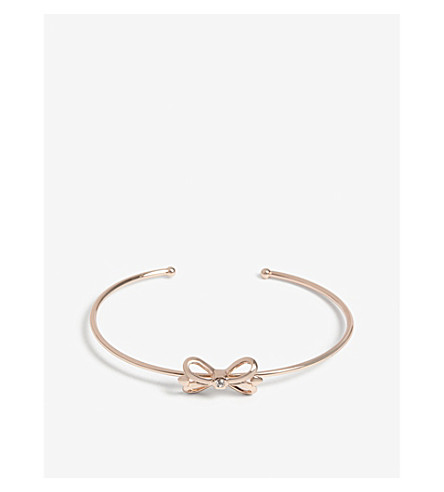 TED BAKER Hosanna ornate bow cuff bracelet (Clear