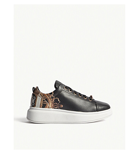 TED BAKER Ailbe platform leather trainers (Black