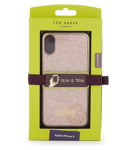 TED BAKER Glitter iPhone 8/X case (Baby+pink