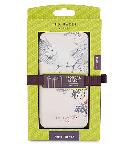 TED BAKER Enchanted Dream iPhone X mirror case (Pale+pink