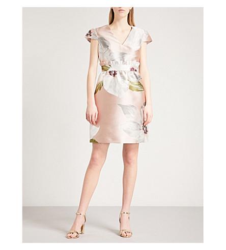TED BAKER Chatsworth jacquard dress (Natural