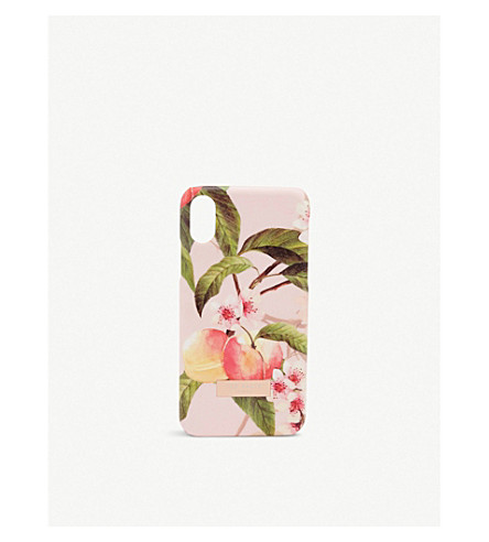 TED BAKER Blossom print iPhone X case (Light+pink