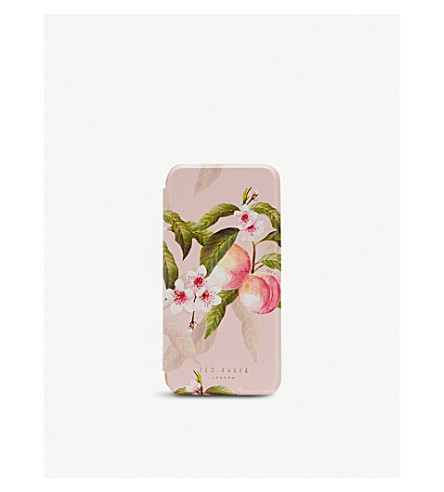 TED BAKER Lesser Blossom iPhone X case (Light+pink