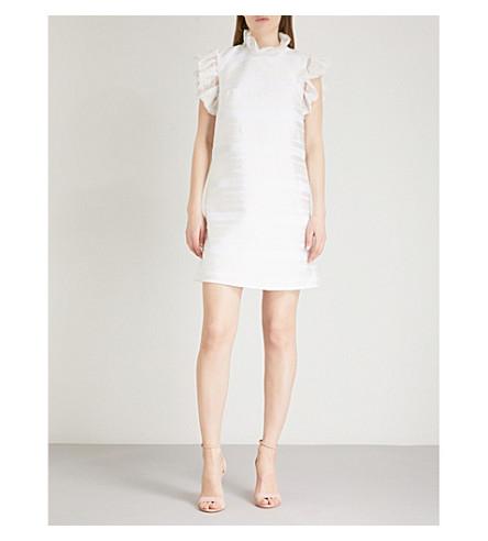 TED BAKER Ruffled jacquard dress (Natural