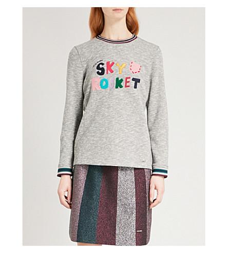 TED BAKER Sky Rocket cotton-blend jumper (Grey+marl