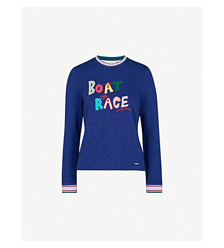 TED BAKER Boat Race cotton-blend jumper (Blue