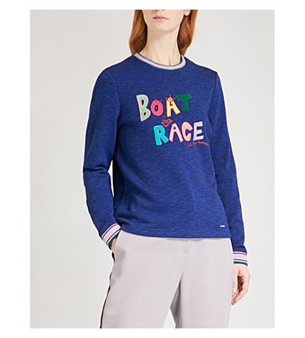 TED BAKER Boat Race cotton-blend jumper (Blue
