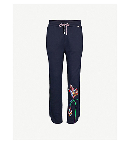 TED BAKER Eleani 休闲版型棉混纺慢跑裤 (海军