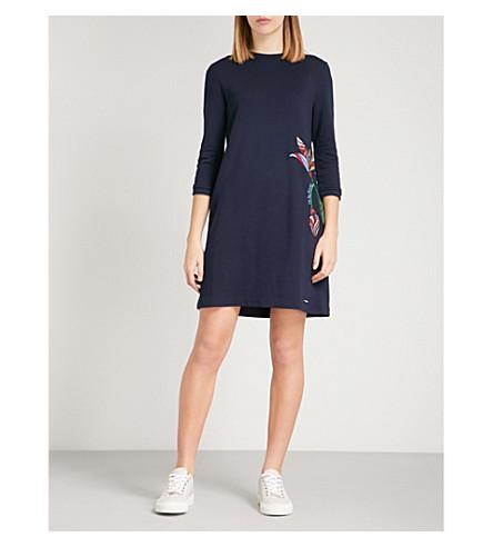 TED BAKER Holie cotton-blend dress (Navy