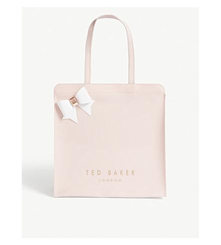 BAKER TED PVC large bag bow TED Light pink BAKER Auracon SrpEvq