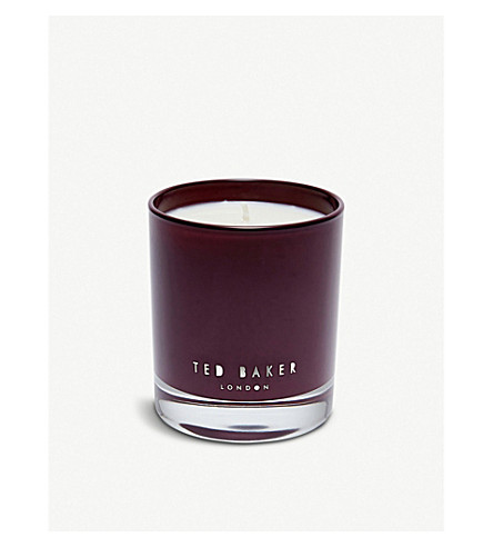 TED BAKER Pink pepper and cedarwood scented candle 200g (Oxblood