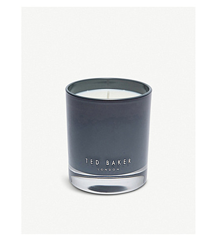 TED BAKER Fig and olive blossom scented candle 200g (Grey