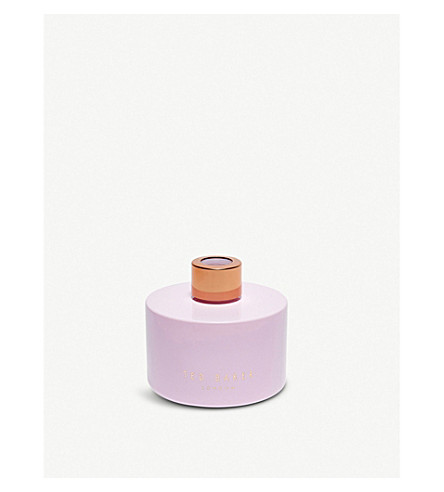 TED BAKER Bergamot and cassis reed diffuser 200ml (Nude+pink